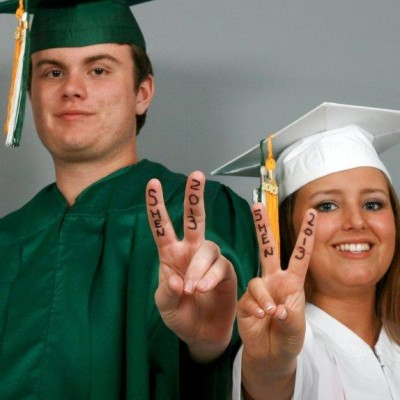 High School cap and gown portraits